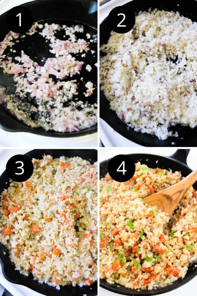 images on how to make fried cauliflower rice