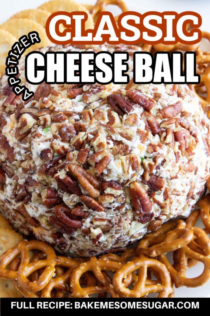 cheese ball on platter
