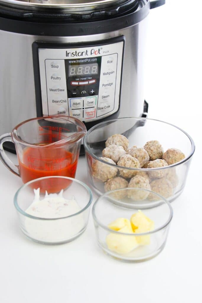 ingredients for meatballs on instant pot
