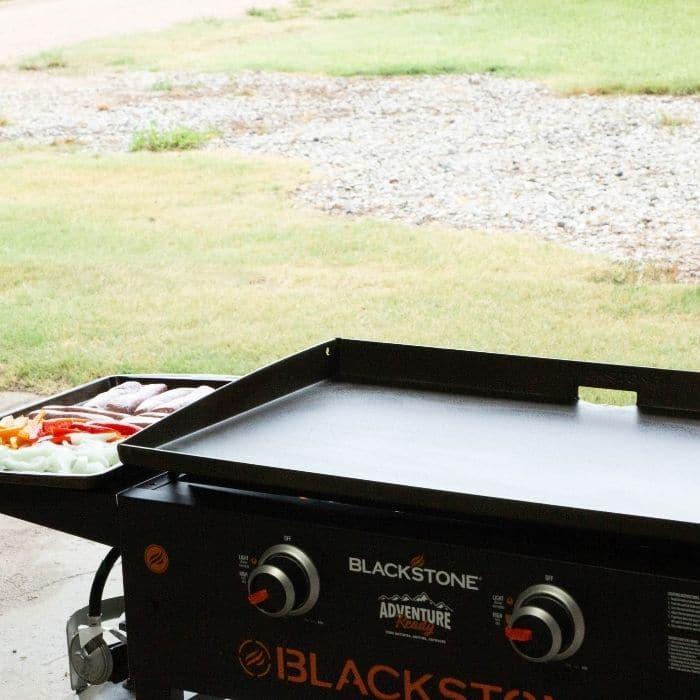 blackstone sitting in garage