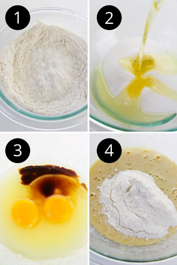 collage on how to make cupcakes