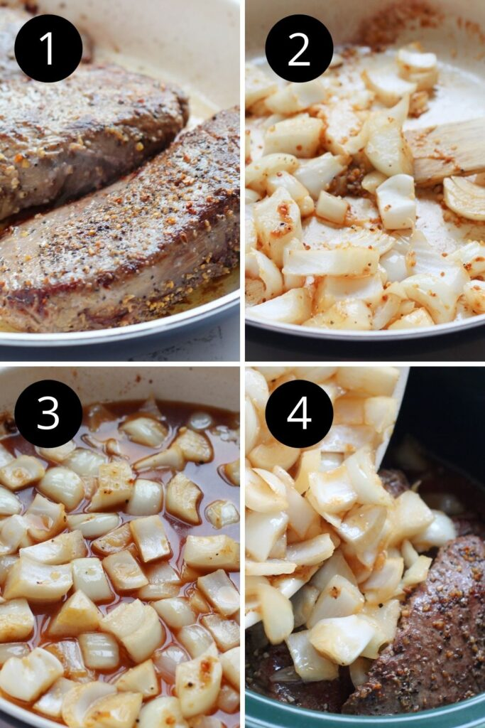how to cook deer meat collage in slow cooker