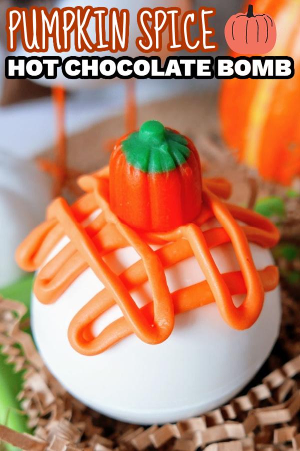 pumpkin spice hot chocolate bomb